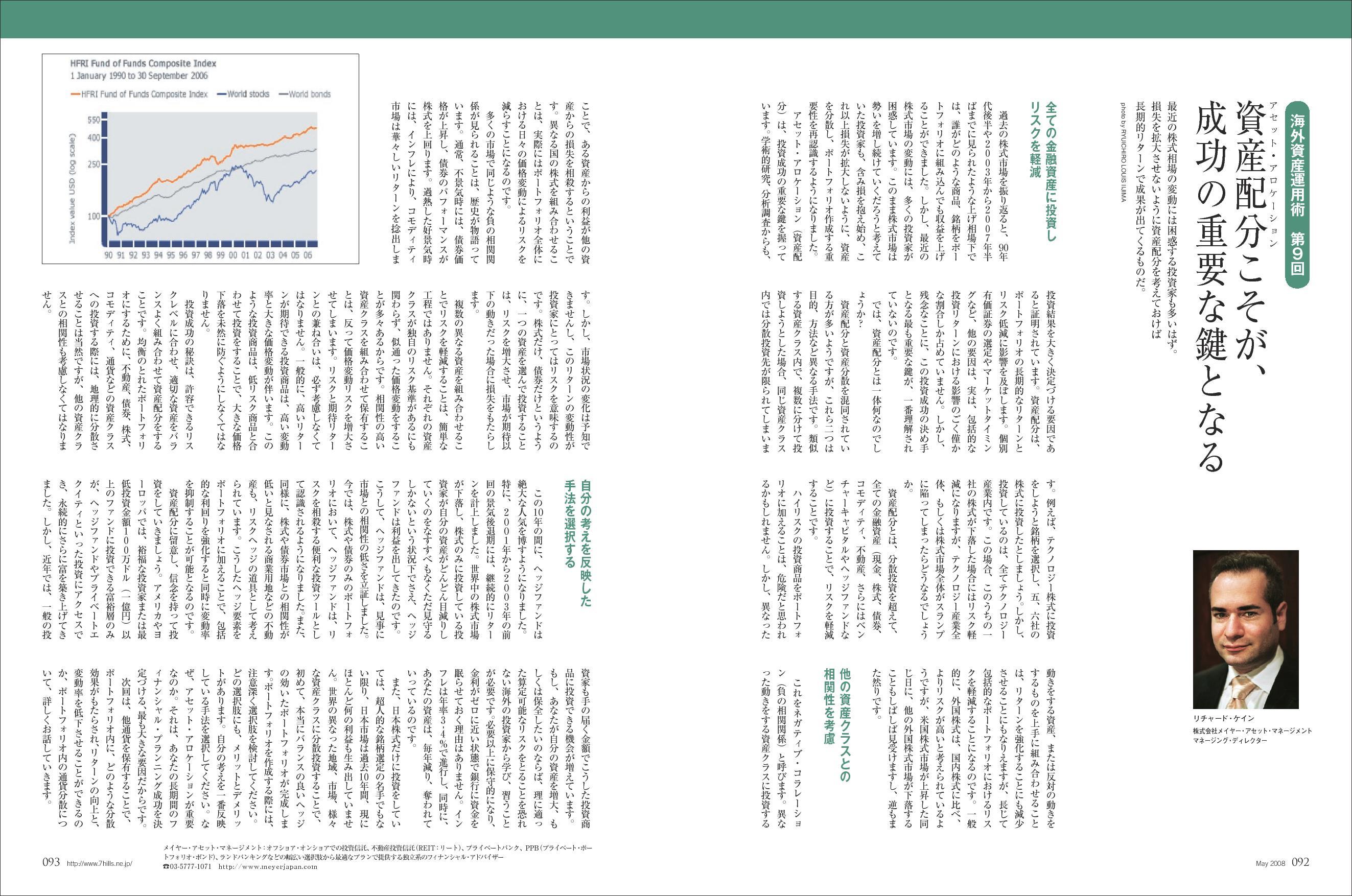 RICHARD CAYNE featured Seven Hills Japan Asset Allocation